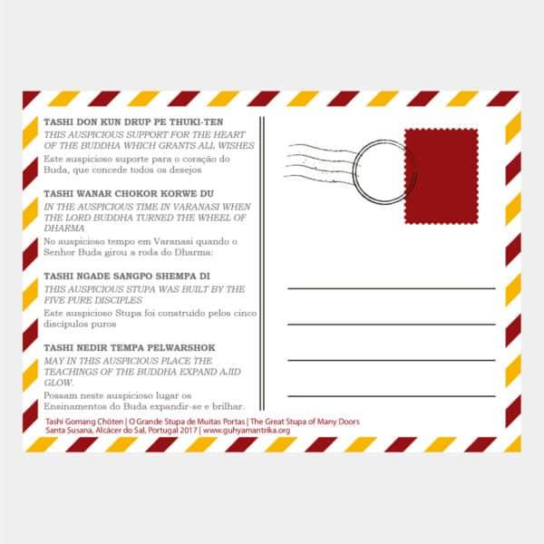 P001 - Postal Stupa Verso