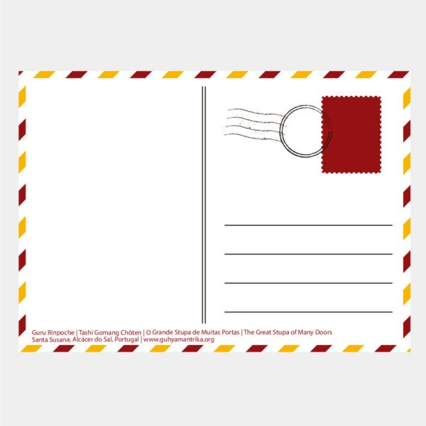 P002 - Postal Guru Rinpoche Verso