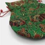 BM003 - Bolsa para Mala de Seda Verde