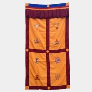 DC003 - Cortina Tibetana 8 Simbolos Auspiciosos (1)